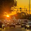 morning city traffic