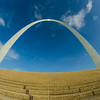 gateway arch sculpture in St Louis Missouri